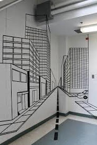 perspective tape art murals ms chang 39 s art classes. Black Bedroom Furniture Sets. Home Design Ideas