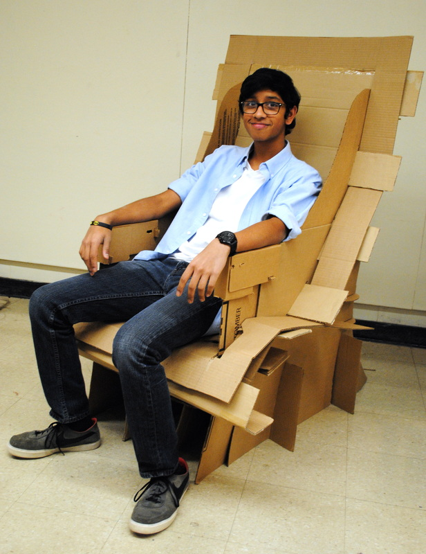 Cool Cardboard Chairs Created By Architecture Students